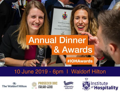 Entries now open for 2019 Institute of Hospitality Awards