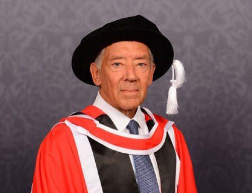 Harry Murray MBE FIH, HOSPA President and Chairman of Lucknam Park, awarded honorary degree